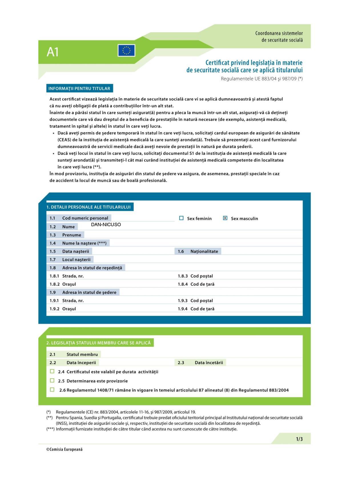 Documentul portabil A1 – importanta lui in criza COVID 19